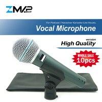 10 шт. высокое качество версии суперкардиоидный B 58 живой вокал Караоке динамический 58A проводной профессиональный мини микрофон Voiceover микро