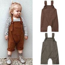 Однотонные брюки с нагрудником комбинезоны для новорожденных мальчиков и девочек детский комбинезон Комплекты Одежда