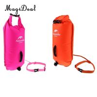 2Pcs Swim Buoy Float Pool Training Flotation Device Waterproof Dry Bag for Swimming Swimmers, Triathletes, Surfers, Snorkelers