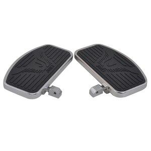 Image 4 - Stainless Steel Black Rubber Front Passenger Footboards Hardware Kit Fit For Honda Shadow VT400 750 750C 750DC 1997 2003