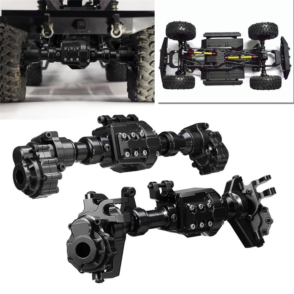 LeadingStar 2 個 CNC 機械加工合金フロントリアポータルアクスルハウジング黒 TRX 4 ための Rc 車の部品  グループ上の おもちゃ & ホビー からの パーツ & アクセサリー の中 1