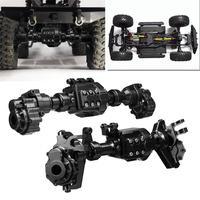 LeadingStar 2PCS CNC Machined Alloy Front Rear Portal Axle Housing Black for Traxxas TRX 4 Crawler Rc Car Parts
