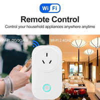 WIFI Smart Plug Smart Switch Socket Audio Control Timing Socket Wireless Outlet Voice Intelligent Control UK/US/EU/AU Plug