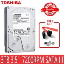 """TOSHIBA 3 TB HDD HD 7200 סל""""ד 3.5 """"64 MB 3000 GB 3000G SATA3 פנימי דיסק קשיח כונן עבור מחשב שולחני"""