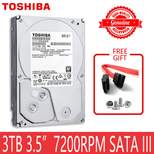 "Image 1 - TOSHIBA 3TB HDD HD 7200RPM 3.5"" 64MB 3000GB 3000G SATA3 Internal Hard Disk Drive for Desktop PC"