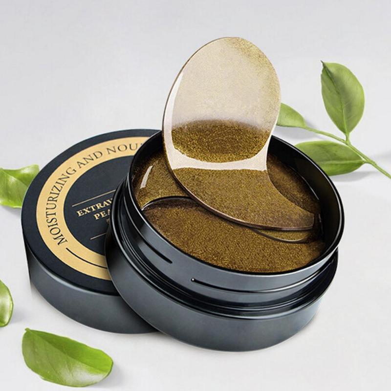 60pcs/1box Collagen Gel Mask Black Pearl Eyes Eye Dark Circle Anti-wrinkle Patch Bag Care