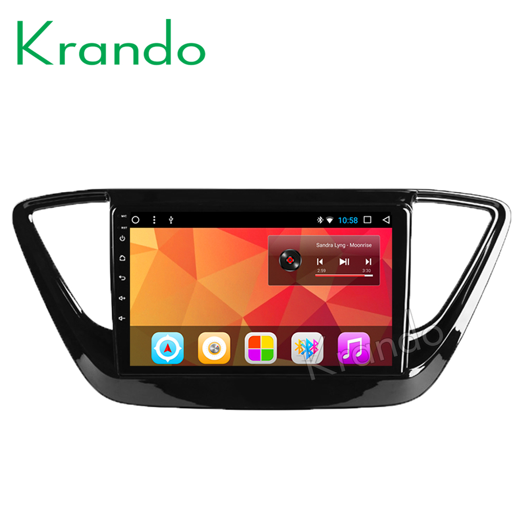 "Krando Android 8.1 10.1"" IPS Full touch car Multmedia system for Hyundai Verna 2016 audio player gps navigation system wifi"