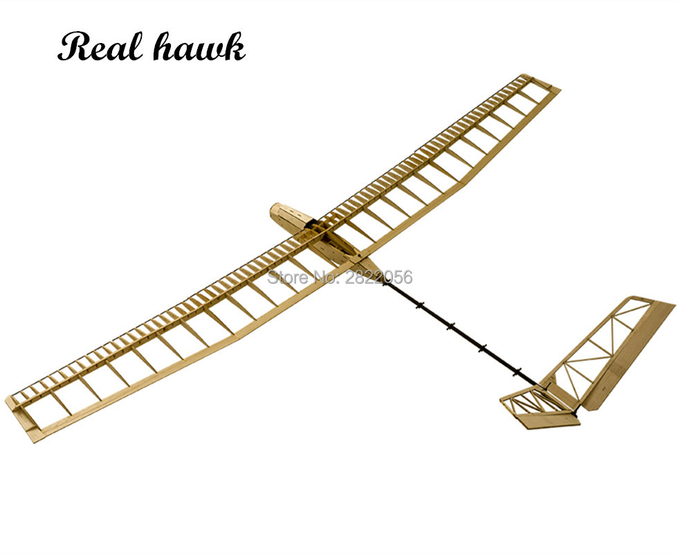 Balsawood Airplane Model Laser Cut Glider Electric Power UZI 1400mm Wingspan Building Kit Woodiness model WOOD PLANE image