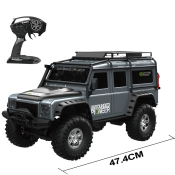 RBRC 110 2.4G 4WD Rc Rally Racing Proportional Control Retro Off-Road Climbing RC Car with LED Light RTR Model - Grey
