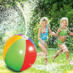 75 см надувной спрей воды мяч Дети Лето Плавание ming пляж бассейн игрушка открытый газон спрей окружающей среды шары аксессуары для плавания