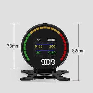 Image 5 - P15 Hd Tft Obd Digitale Snelheid Hud Display Snelheidsmeter OBD2 Turbo Boost Druk Meter Alarm Olie Water Temp Gauge Code reader
