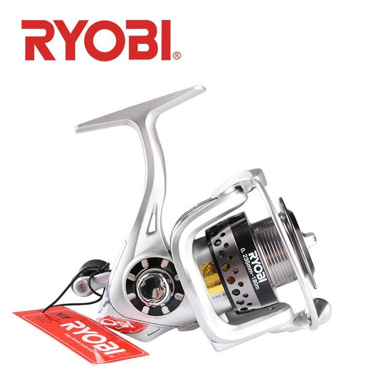 Ryobi moulinet à tambour Japon Véritable Original roue de pêche Full Metal Bobine 6 + 1 BB résistant à La Corrosion Long Shot Grosses Carpes poissons Outil