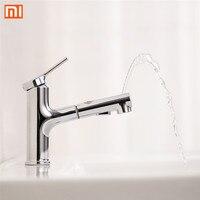 Xiaomi DABAI Bathroom Basin Sink Faucet w/ Pull Out Rinser Sprayer Gargle Brushing 2 Mode Mixer Tap Cold & Hot Bathtub Faucet