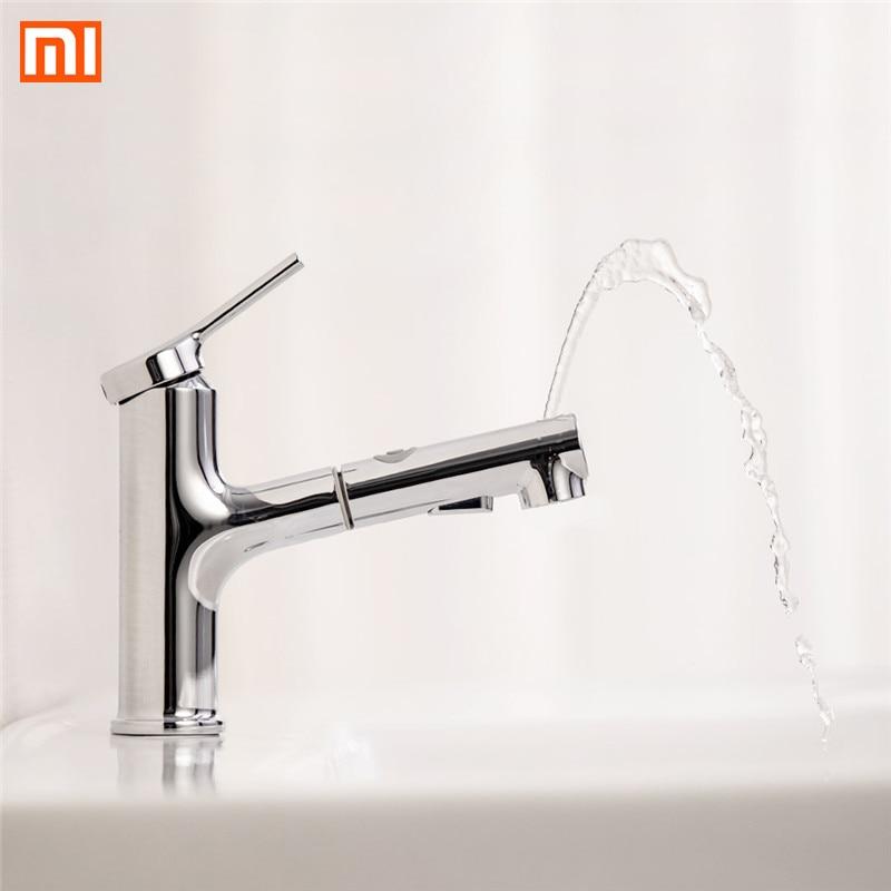 Xiaomi DABAI salle de bains bassin évier robinet w/tirer rinçage pulvérisateur gargarisme brossage 2 Mode mélangeur robinet froid et chaud baignoire robinet