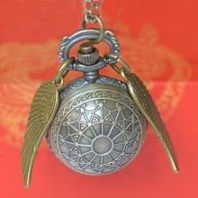 Cool Creative Bronze Spider Tennis with Wings Quartz Pocket Watch Manufacturer Wholesale Small