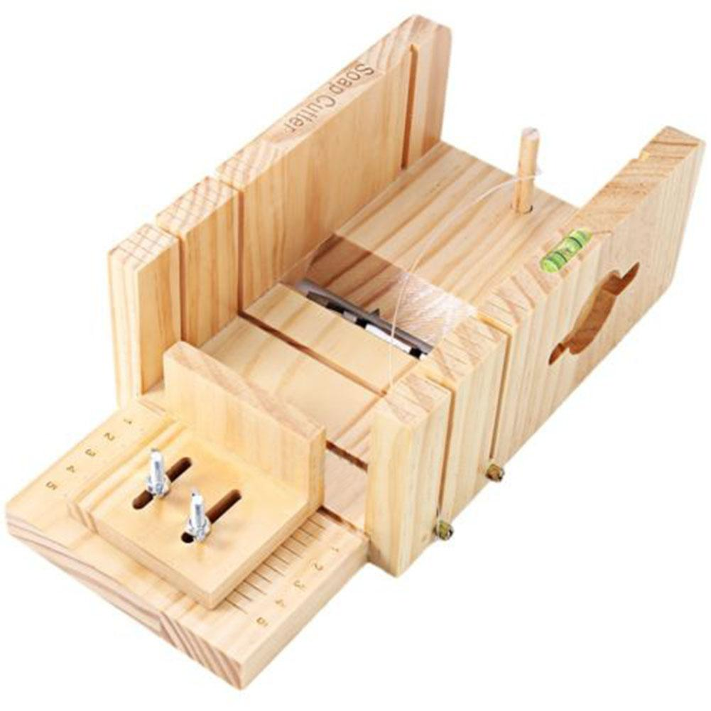 LanLan Multifunction Wooden Soap Cutter Box Accurate Wire Cutting Adjustable Front Board