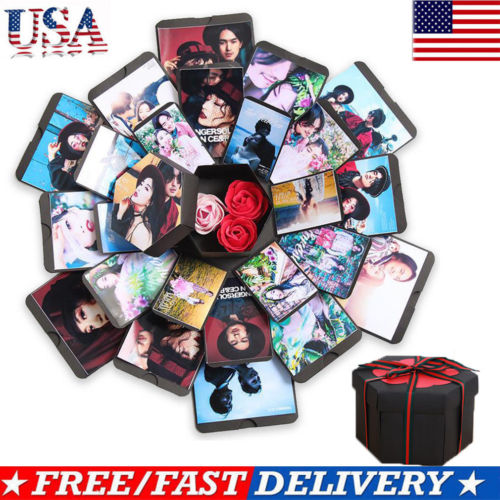 Hexagon 5 Layer 6 Sided Explosion Gift Box Innovative DIY Photo Album Paper 1pcs