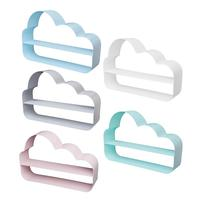 Creative Nordic Ins Style Simple Iron Cloud Shaped Wall Shelf Rack Living Room Background Wall Hanging