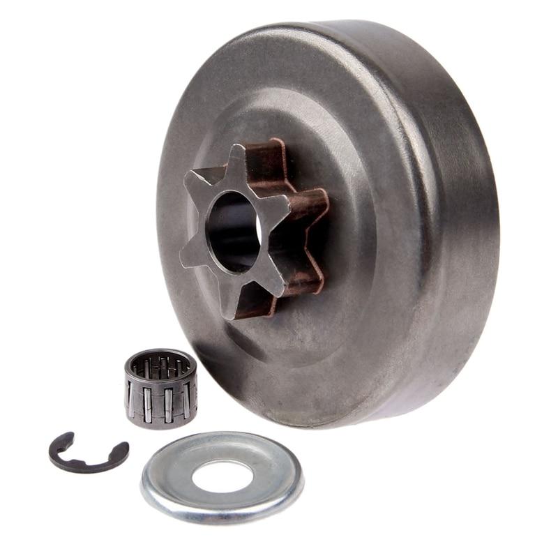 3/8 6T барабан сцепления Звездочка шайба E-зажим комплект для бензопилы Stihl 017 018 021 023 025 Ms170 Ms180 Ms210 Ms230 Ms250 1123