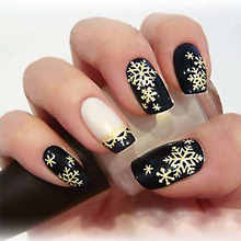 цена на 3D 3 Colors Nail Stickers & Decals Christmas Snowflakes Lace Nail Art Sticker Decals Nail  Decor Accessories