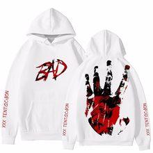 Dropship mais novo raper xxxtentacion impressão 3d hoodies homem/mulher streetwear hip hop 3d xxxtentacion moletom com capuz