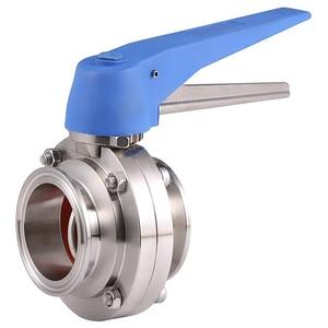 Image 2 - 1 1/2 אינץ 38mm SS304 נירוסטה סניטרי 1.5 אינץ Tri קלאמפ פרפר שסתום הדק לסחוט עבור Homebrew חלב מוצר