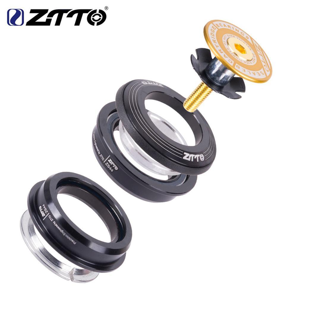"ZTTO 4444 s MTB Bike Road Fiets Headset 44mm 44mm CNC 1 1/8 ""28.6 Rechte Buis vork interne ZS44 SEMI-INTEGRATED Headset"