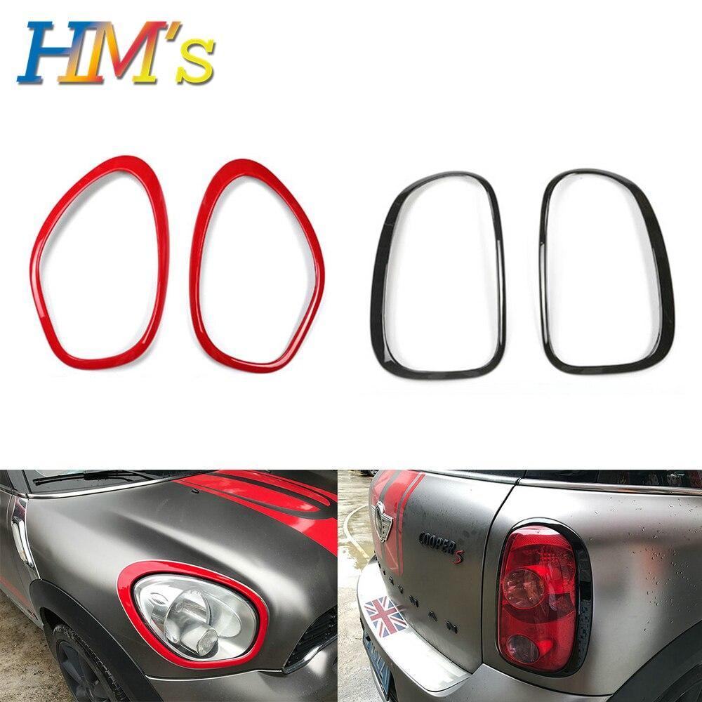 For MINI R60 Car Headlight Front Head Tail Rear Lamp Light Sticker Rings For MINI Cooper