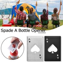 Новинка, портативная лопата из нержавеющей стали, открывалка для бутылок, игральные карты в форме покера, открывалка для бутылок пива, метание и резка