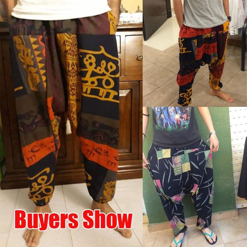 New Hip Hop Aladdin Hmong Larghi di Cotone di Lino Pantaloni stile harem  Uomini Pantaloni Delle Donne Più Il Formato pantaloni Larghi del Piedino Dei  ... 397d768dce90
