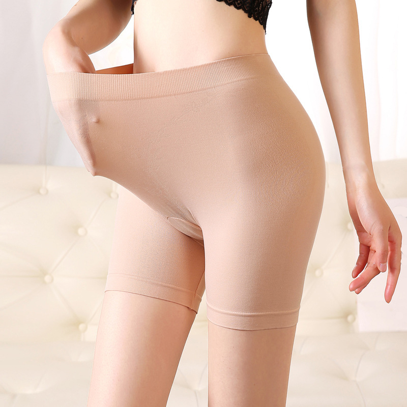 High Waist Safety Shorts Pants Women MAX 130KG Plus Size Elastic Soft Anti Chafing Under Skirt Shorts Hip Up Tight Casual Pants