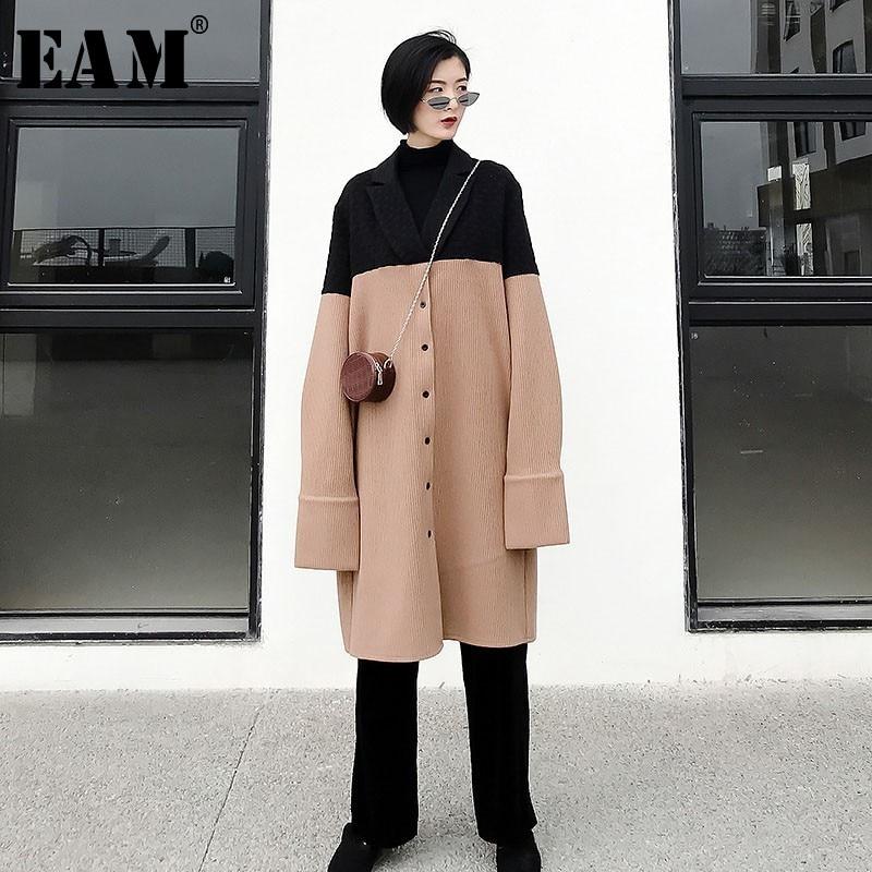2019 Lana Personalidad Color Larga Abrigo Primavera Eam De Mujer wqPSCxR