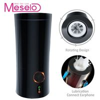 Meselo Rotating Male Masturbator For Man Moaning Interaction Earphone Penis Trainer Adult Gay Sex Toys For Men Masturbatings New