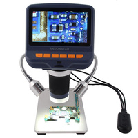 Andonstar Digital Microscope for Phone Repair Soldering Tool PCB Bugs Jewelry Appraisal BBiologic Use USB Microscope LED Screen