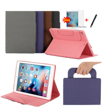 PU Leather Skin for iPad 6th Generation A1954 cases Hand Hold for ipad Air 1/iPad 9.7 2017 2018+Card Slots Pocket + Glass+Stylus zipper sleeve bag pouch case cover for ipad 2018 9 7 6th generation a1893 a1954 cases for ipad 6th generation casefor ipad air 1