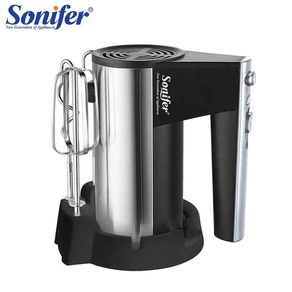 Original Stainless steel 5 speeds Food Mixers Dough Mixer Egg Beater 220v Food Blender for Kitchen Sonifer