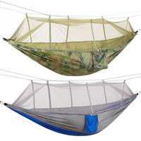 Portable Camping Travel Hammock Hanging Bed with Mosquito Net Double Person Survival garden hunting Leisure travel