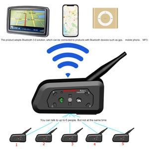 Image 2 - WAYXIN motosiklet Bluetooth interkom 2 adet kask interkom 6 Riders kadar 1200M kablosuz su geçirmez interkom kulaklık R6