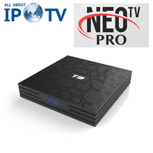 Original T9 Android 8.1 décodeur Neo Pro IPTV France UK chaînes arabes Code 4G 32G 64G T9 Tv Box(China)