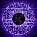 Руны викингов светодиодные настенные часы винтажные художественные настенные часы мужские пещеры прозрачные акриловые Светящиеся Настен...