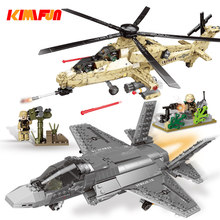 749pcs Military Series Assemble Helicopter Model Bricks Toys Plane Building block Tool Sets Combat Aircraft Compatible(China)