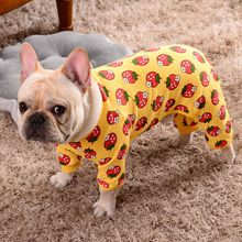 Купить с кэшбэком Cotton French Bulldog Overalls Dog Clothes for Small Dogs Chihuahua Soft Jumpsuit for Yorkshire Puppy Pet Costume Pajamas