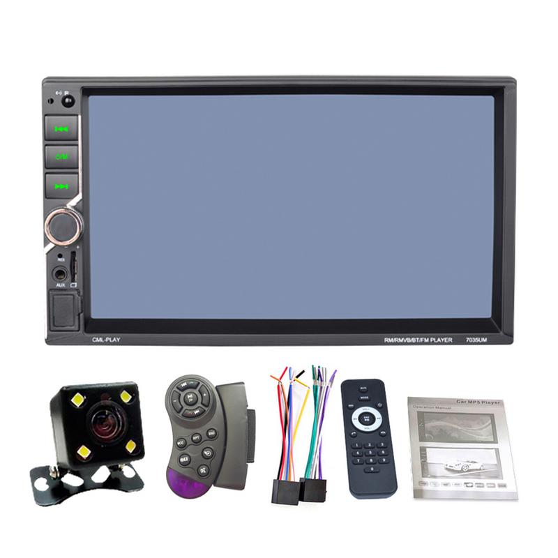 Universal DC12V 1080P 7 2DIN Car Multimedia Player Autoradio MP5 Touch Screen MirrorLink Auto Radio Support