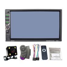 Универсальный DC12V 1080 P 7 »2DIN Автомобильный мультимедийный плеер авторадио MP5 Сенсорный экран MirrorLink авто радио Поддержка заднего вида Камера