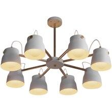 Industrial LED Pendant Lights Wind Living Room Lamp Loft Retro Iron Study Bedroom Restaurant Kitchen Fixtures