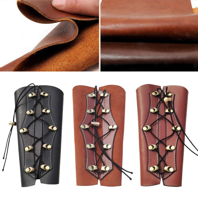 Archery Arm Guard Leather Restraint Protector Guard Pull Bow Protect Arm for Shooting Hunting