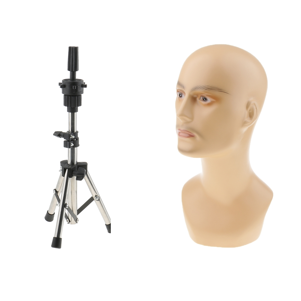 Male Mannequin Manikin Head Model Glasses Caps Toupee Display Holder Stand Rack new 2pcs female right left vivid foot mannequin jewerly display model art sketch