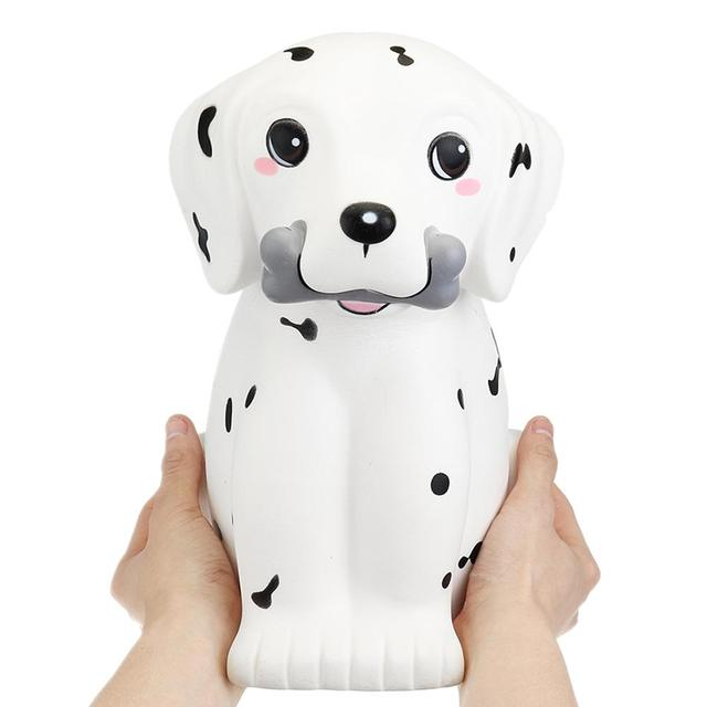 Bakeey Super Big Size 30cm Squishes Toys Spot Puppy Dog Animal Jumbo Gift Fun Cute PU Slime toy Children  for Relieve Stress