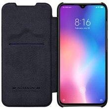 Para Xiaomi mi 9 SE casos wake up inteligente Nillkin Qin Série wallet Virar capa de Couro caso capa protetora para Xiaomi mi9 SE caso