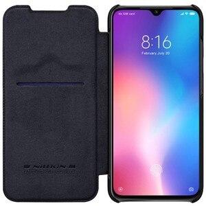 Image 1 - Para Xiaomi mi 9 SE casos wake up inteligente Nillkin Qin Série wallet Virar capa de Couro caso capa protetora para Xiaomi mi9 SE caso